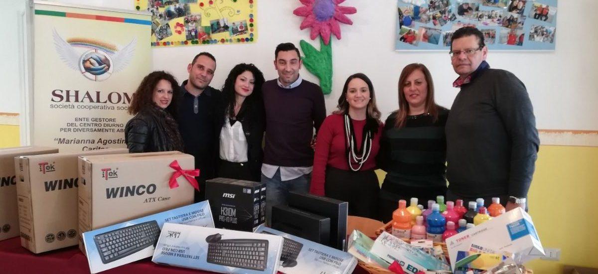 Donazione di Assipromos con il 5xmille alla Cooperativa Shalom